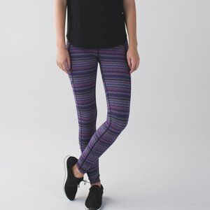 LULULEMON Speed Tight purple stripe leggings